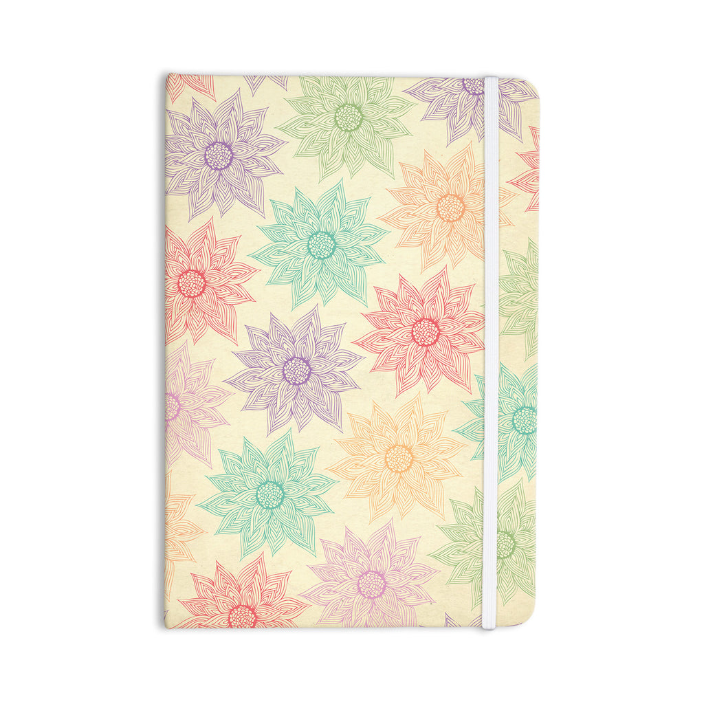 "Pom Graphic Design ""Spring Florals"" Rainbow Tan Everything Notebook - KESS InHouse  - 1"