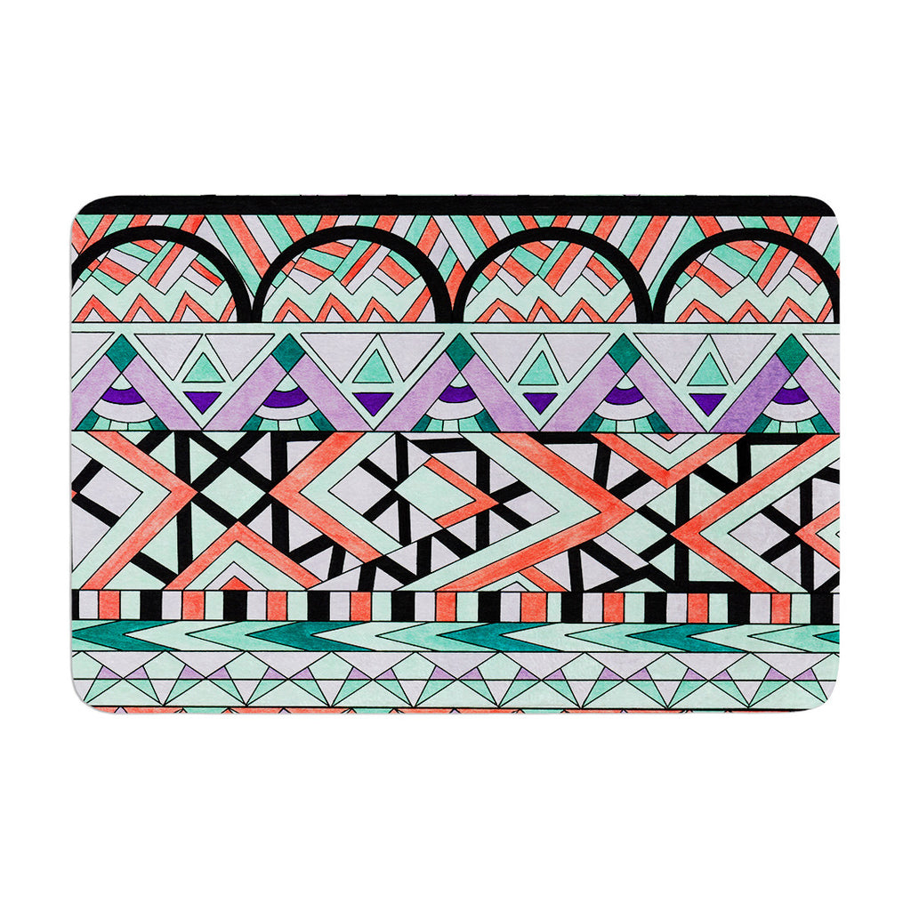 "Pom Graphic Design ""Tribal Invasion"" Abstract Memory Foam Bath Mat - KESS InHouse"