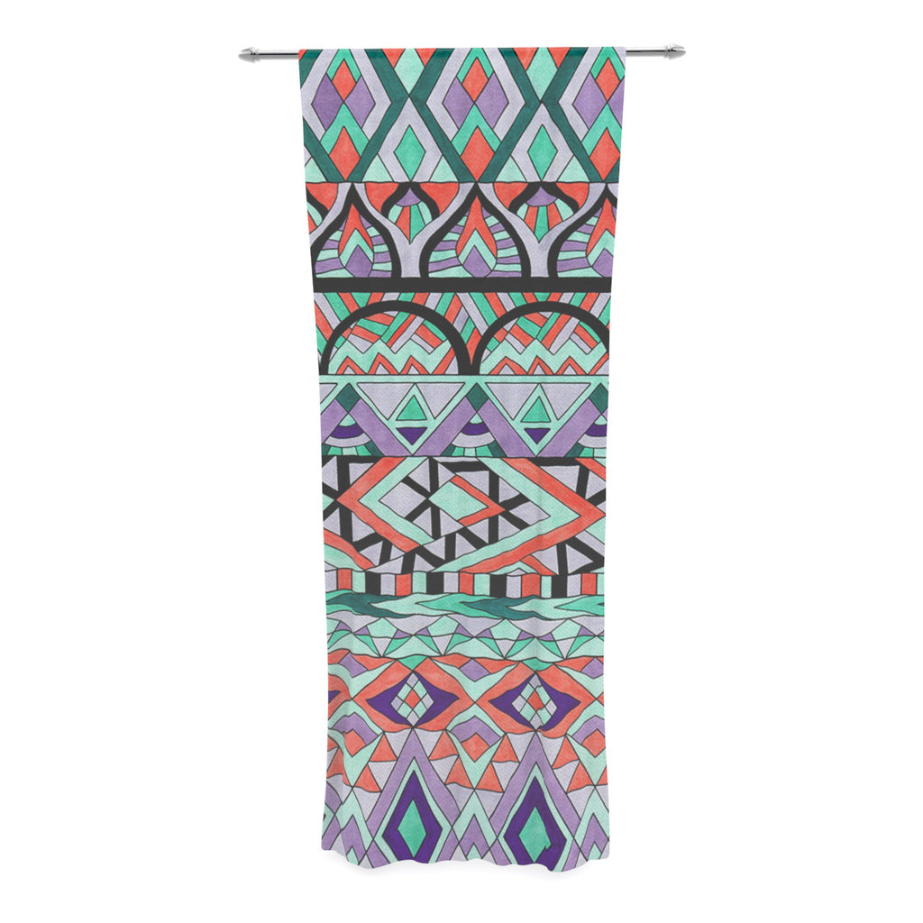 "Pom Graphic Design ""Tribal Invasion"" Abstract Decorative Sheer Curtain - KESS InHouse  - 1"