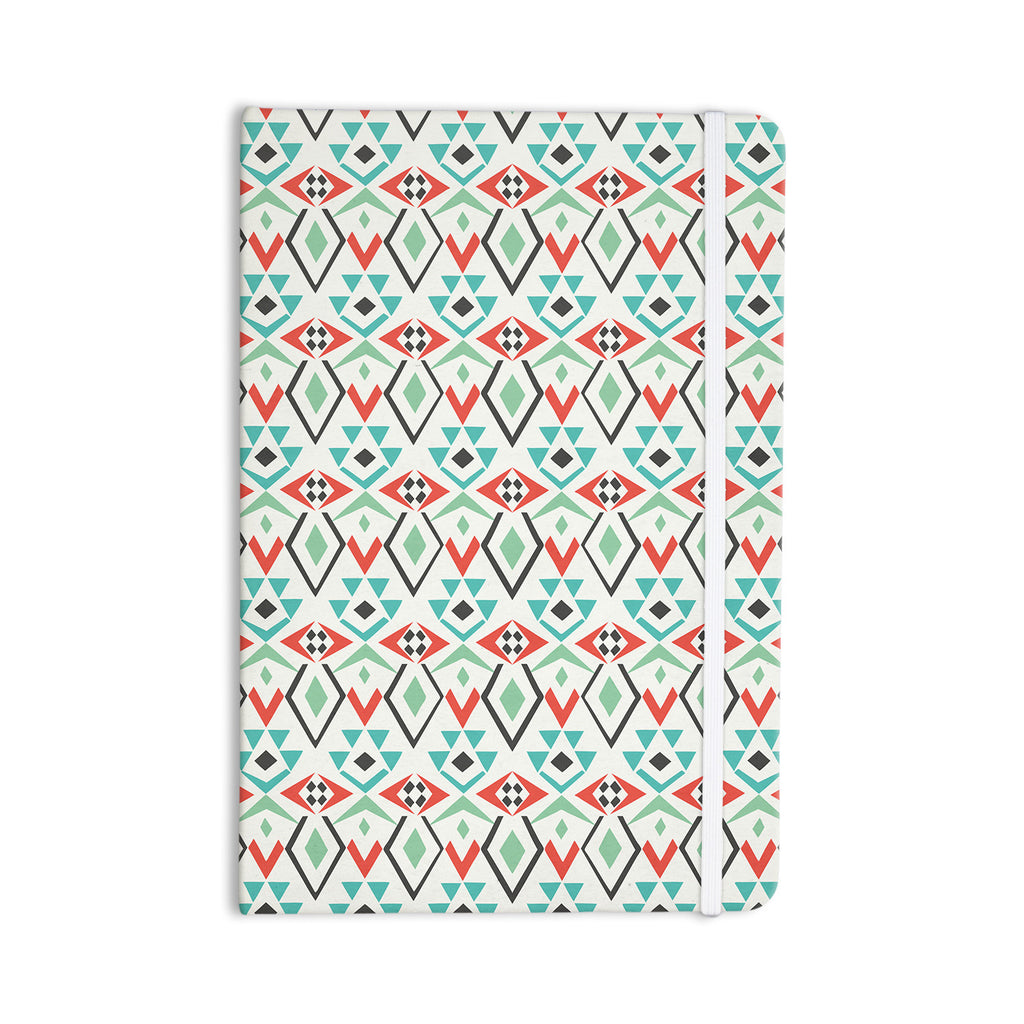 "Pom Graphic Design ""Tribal Marrakech"" Red White Everything Notebook - KESS InHouse  - 1"