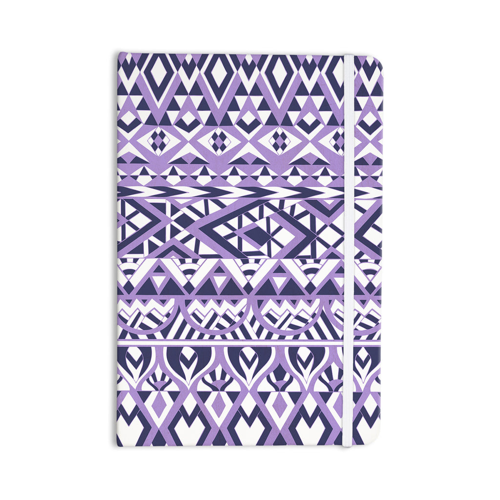 "Pom Graphic Design ""Tribal Simplicity II"" Purple White Everything Notebook - KESS InHouse  - 1"