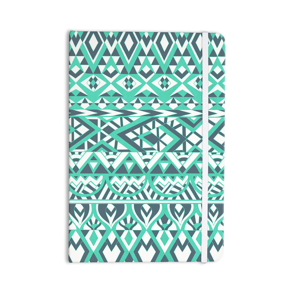 "Pom Graphic Design ""Tribal Simplicity"" Teal Everything Notebook - KESS InHouse  - 1"