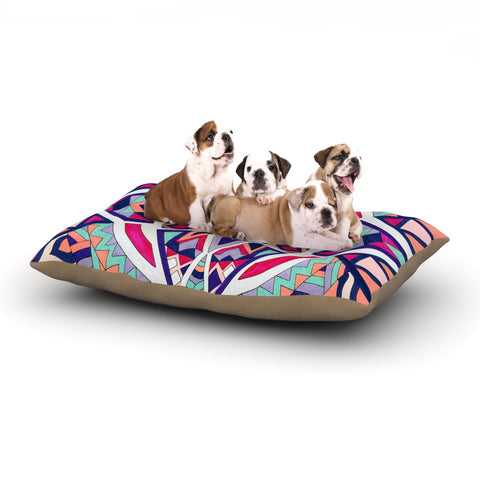 "Pom Graphic Design ""Abstract Journey"" Circular Tribal Dog Bed - Outlet Item"