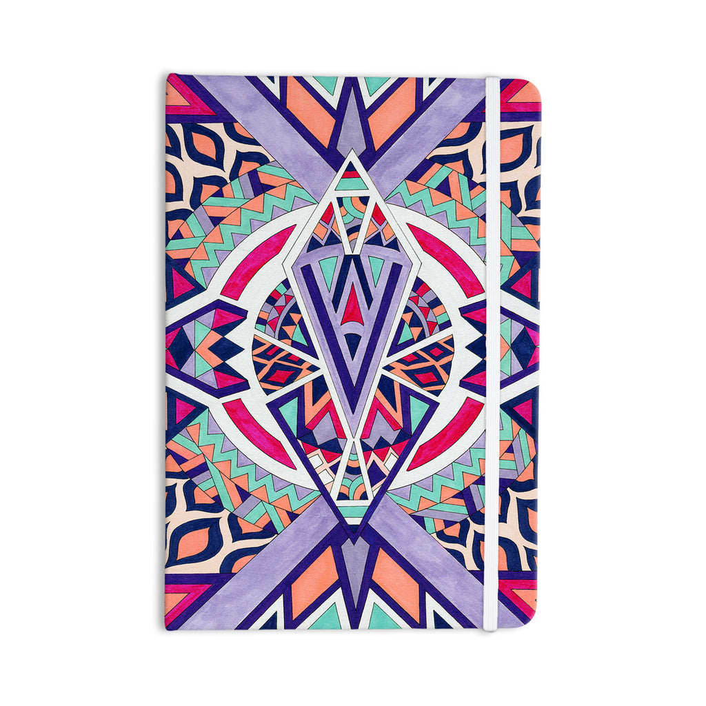 "Pom Graphic Design ""Abstract Journey"" Circular Tribal Everything Notebook - KESS InHouse  - 1"