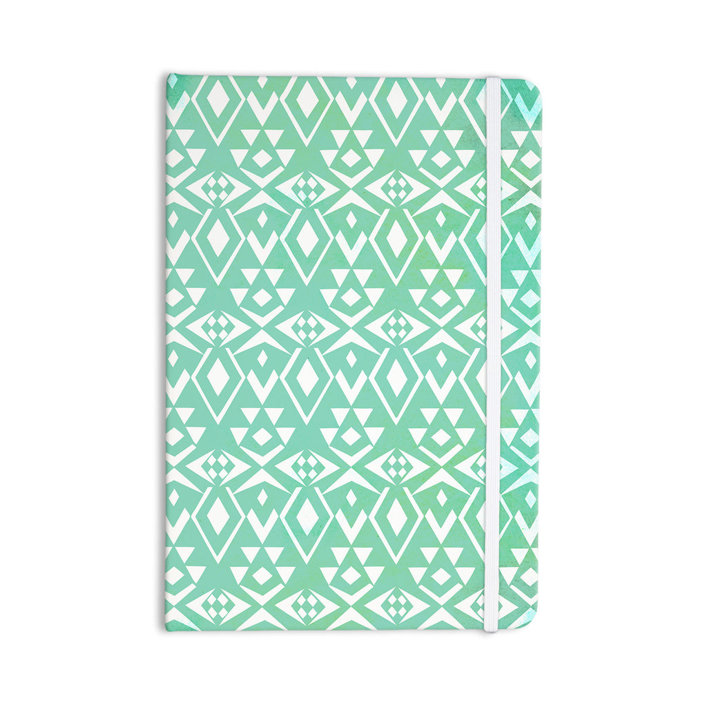 "Pom Graphic Design ""Ancient Tribe"" Seafoam Everything Notebook - KESS InHouse  - 1"