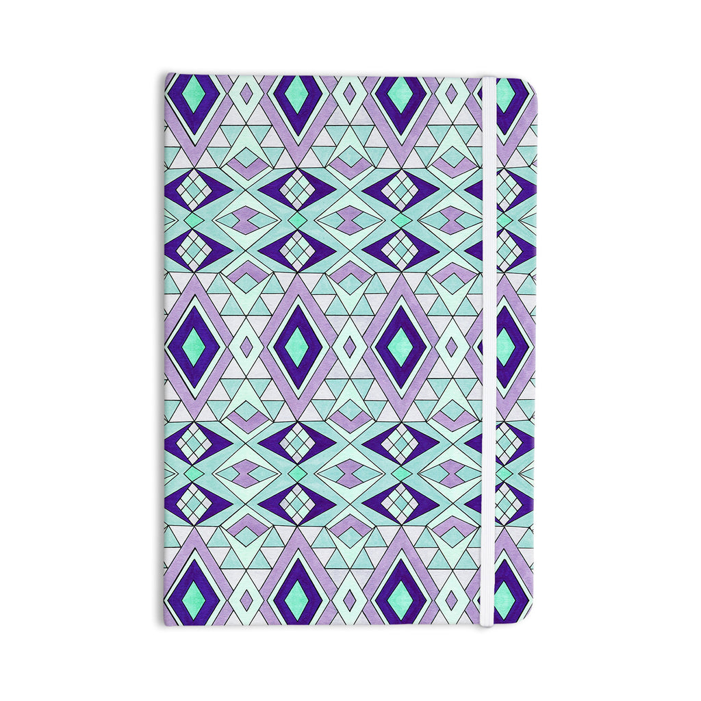 "Pom Graphic Design ""Gems"" Purple Teal Everything Notebook - KESS InHouse  - 1"