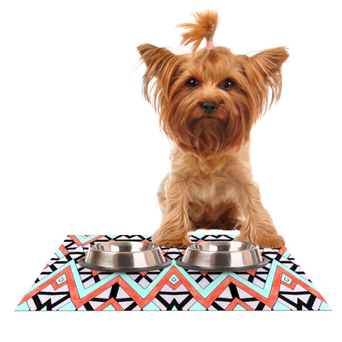 "Pom Graphic Design ""Geometric Mountains"" Dog Place Mat - Outlet Item"