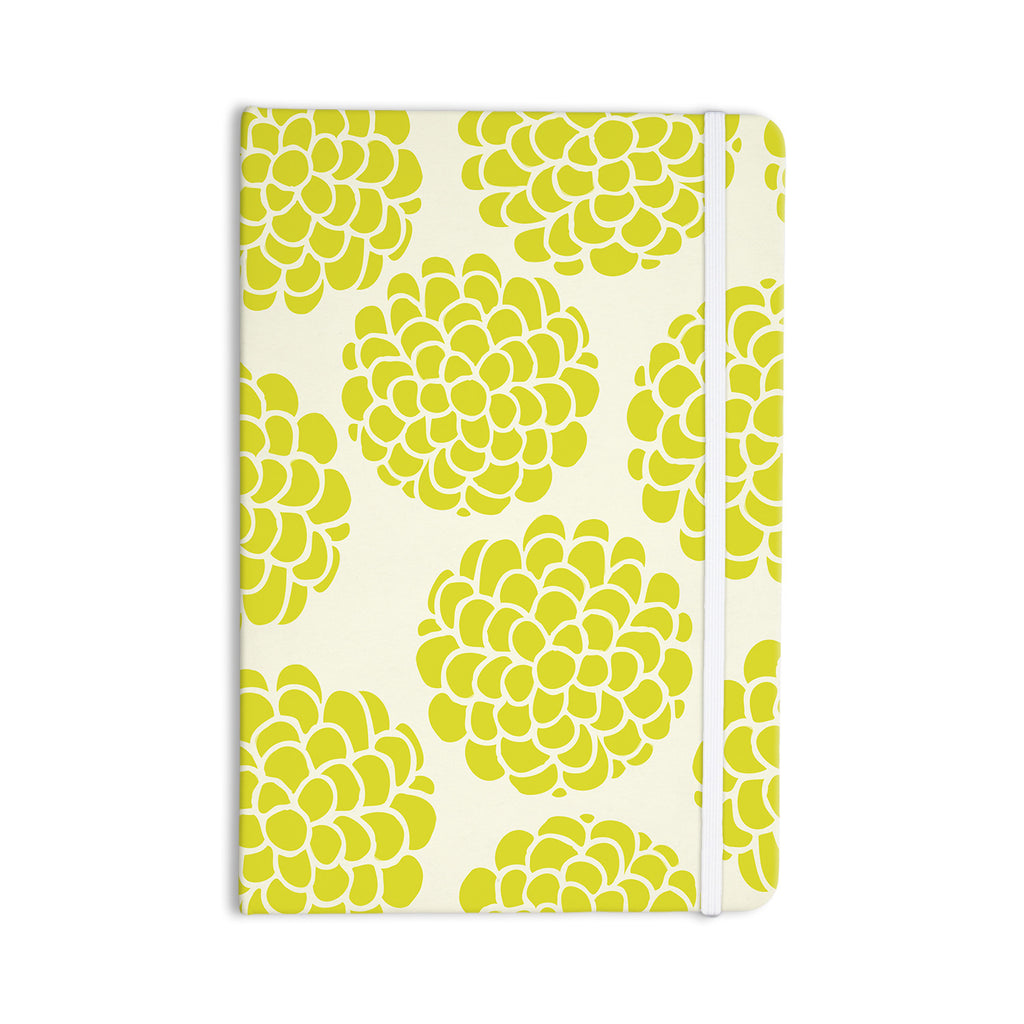 "Pom Graphic Design ""Grape Blossoms"" Yellow Circles Everything Notebook - KESS InHouse  - 1"