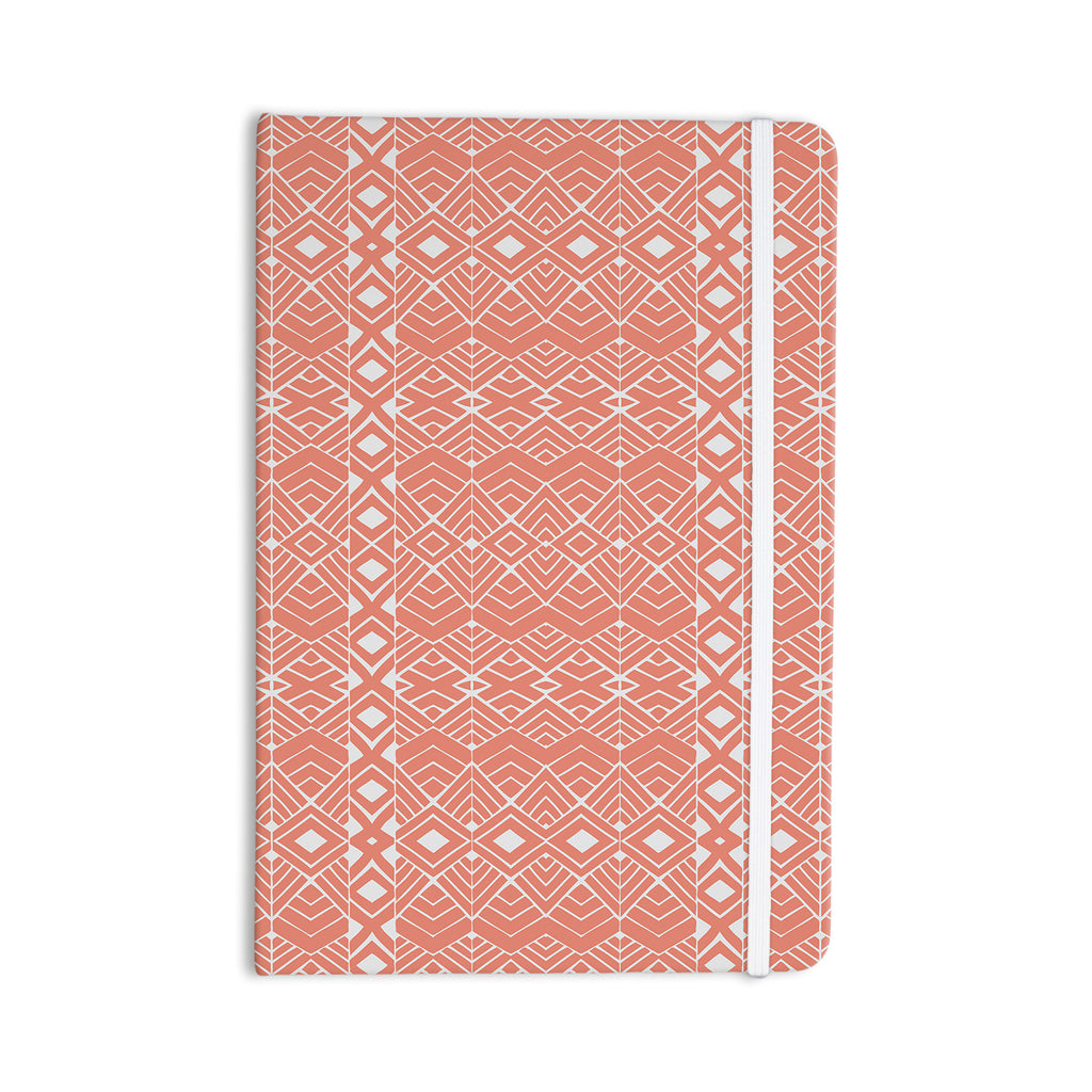 "Pom Graphic Design ""Aztec Roots"" Orange Tribal Everything Notebook - KESS InHouse  - 1"