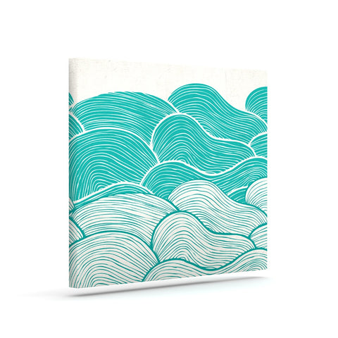 "Pom Graphic Design ""The Calm and Stormy Seas"" Green Teal Canvas Art - KESS InHouse  - 1"