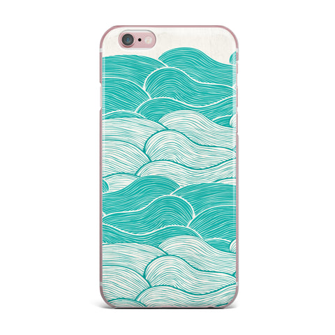 "Pom Graphic Design ""The Calm and Stormy Seas"" Green Teal iPhone Case - KESS InHouse"