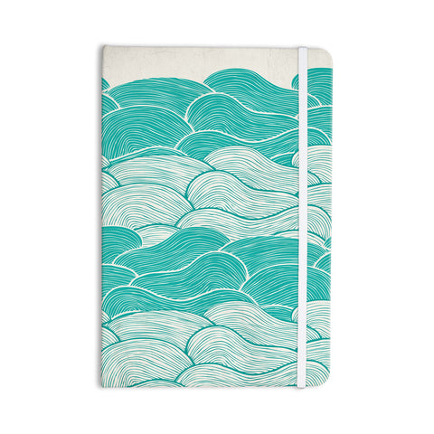 "Pom Graphic Design ""The Calm and Stormy Seas"" Green Teal Everything Notebook - KESS InHouse  - 1"