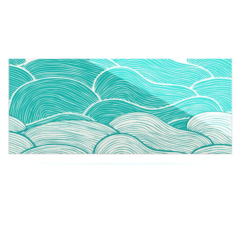 "Pom Graphic Design ""The Calm and Stormy Seas"" Green Teal Luxe Rectangle Panel - KESS InHouse  - 1"