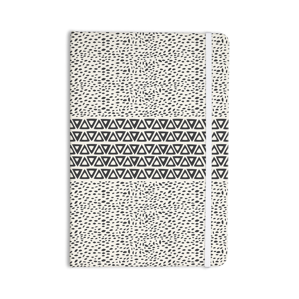 "Pom Graphic Design ""Wind Day"" White Black Everything Notebook - KESS InHouse  - 1"