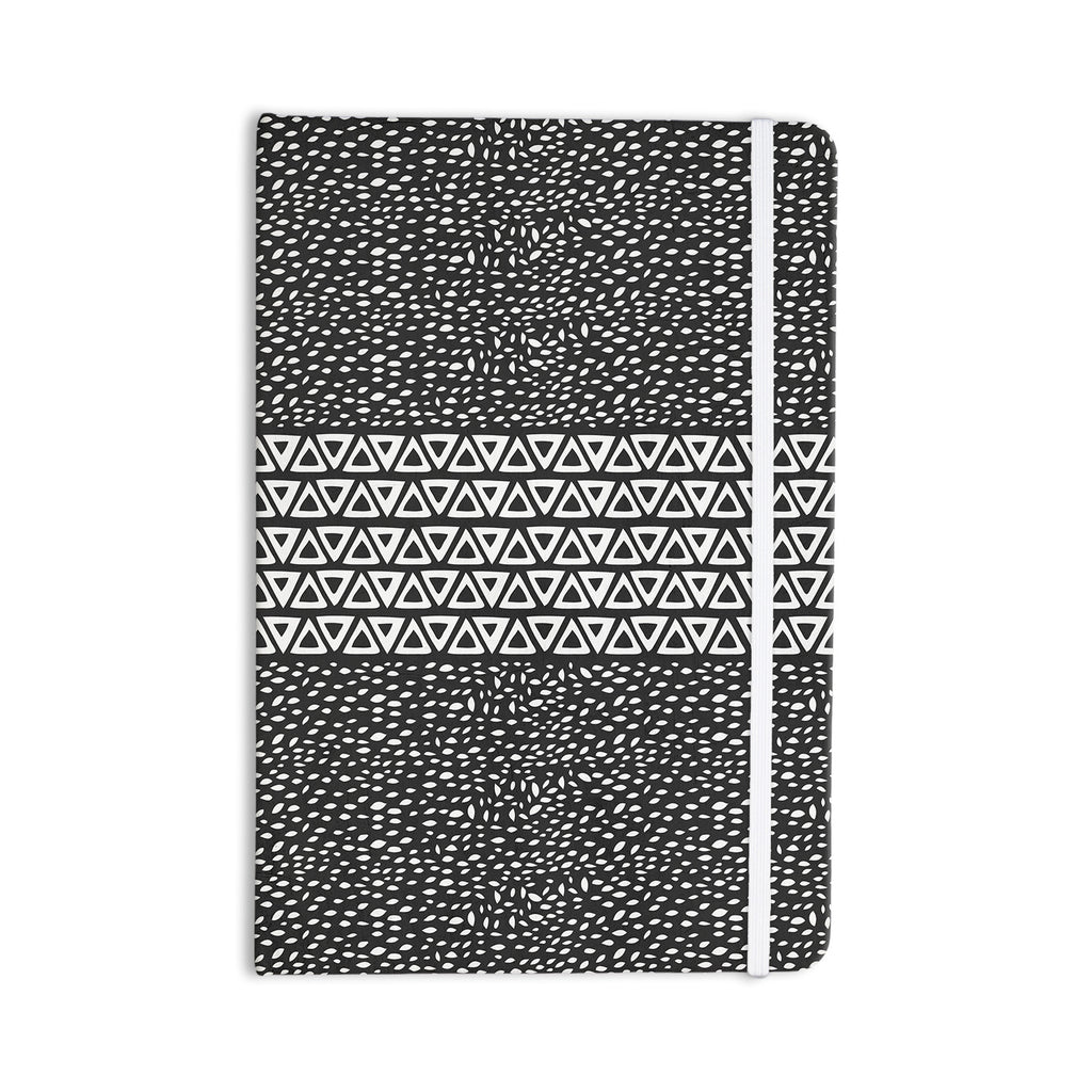 "Pom Graphic Design ""Wind Night"" Black White Everything Notebook - KESS InHouse  - 1"