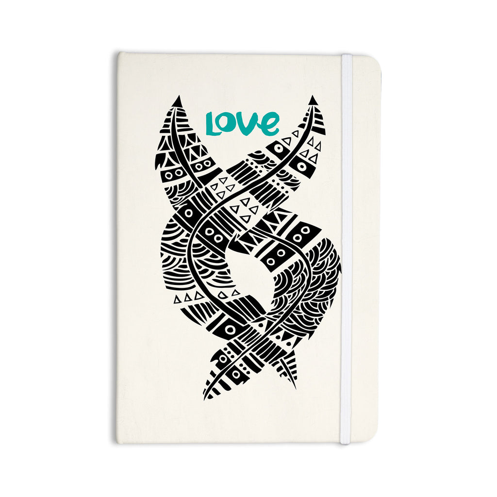 "Pom Graphic Design ""United Love"" Black Tribal Everything Notebook - KESS InHouse  - 1"