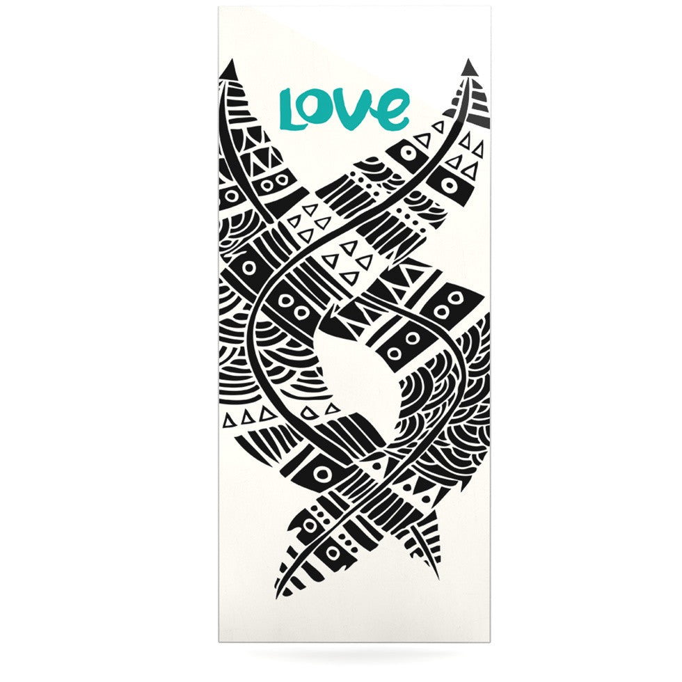 "Pom Graphic Design ""United Love"" Black Tribal Luxe Rectangle Panel - KESS InHouse  - 1"