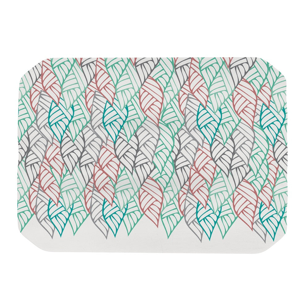 "Pom Graphic Design ""Ethnic Leaves"" Teal Red Place Mat - KESS InHouse"