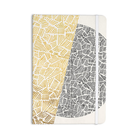 "Pom Graphic Design ""Inca Day & Night"" Gold Black Everything Notebook - Outlet Item"