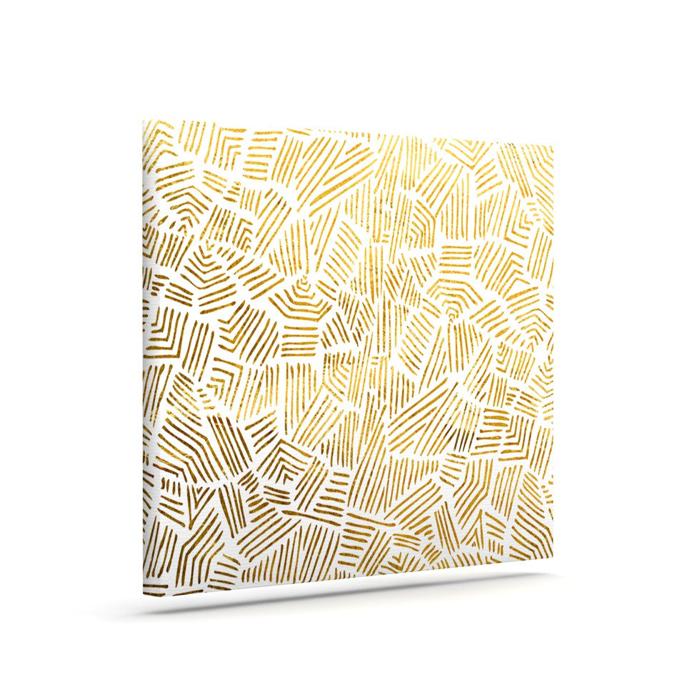 "Pom Graphic Design ""Inca Gold Trail"" Yellow Brown Canvas Art - KESS InHouse  - 1"