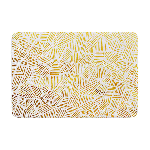 "Pom Graphic Design ""Inca Gold Trail"" Yellow Brown Memory Foam Bath Mat - KESS InHouse"