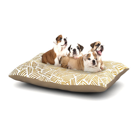 "Pom Graphic Design ""Inca Gold Trail"" Yellow Brown Dog Bed - KESS InHouse  - 1"