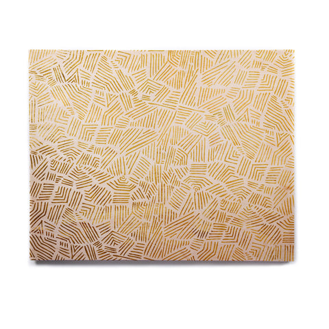 "Pom Graphic Design ""Inca Gold Trail"" Yellow Brown Birchwood Wall Art - KESS InHouse  - 1"