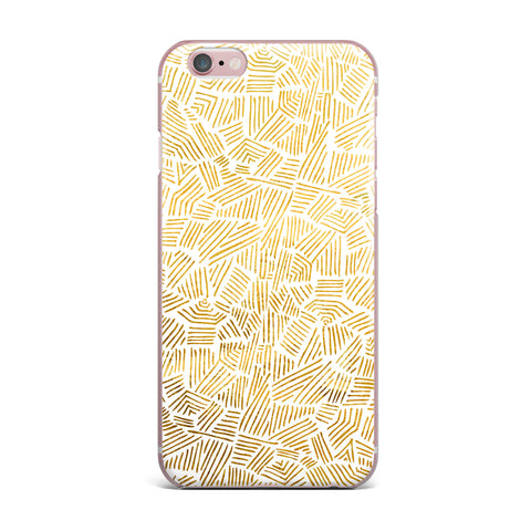 "Pom Graphic Design ""Inca Gold Trail"" Yellow Brown iPhone Case - KESS InHouse"