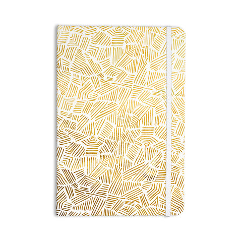 "Pom Graphic Design ""Inca Gold Trail"" Yellow Brown Everything Notebook - KESS InHouse  - 1"