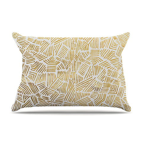 "Pom Graphic Design ""Inca Gold Trail"" Yellow Brown Pillow Sham - KESS InHouse"