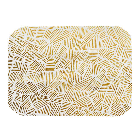"Pom Graphic Design ""Inca Gold Trail"" Yellow Brown Place Mat - KESS InHouse"