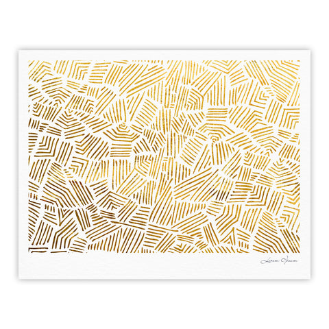 "Pom Graphic Design ""Inca Gold Trail"" Yellow Brown Fine Art Gallery Print - KESS InHouse"