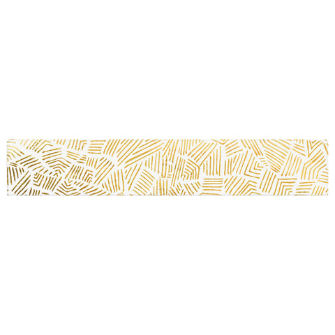 "Pom Graphic Design ""Inca Gold Trail"" Yellow Brown Table Runner - KESS InHouse  - 1"