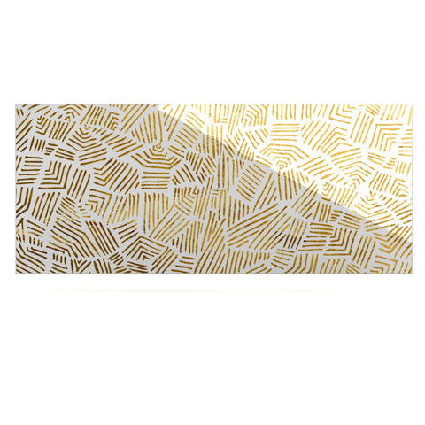 "Pom Graphic Design ""Inca Gold Trail"" Yellow Brown Luxe Rectangle Panel - KESS InHouse  - 1"
