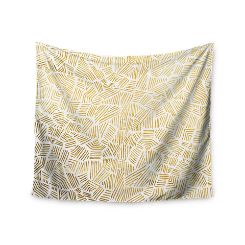 "Pom Graphic Design ""Inca Gold Trail"" Yellow Brown Wall Tapestry - KESS InHouse  - 1"