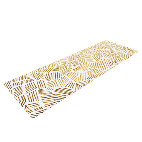 "Pom Graphic Design ""Inca Gold Trail"" Yellow Brown Yoga Mat - KESS InHouse  - 1"