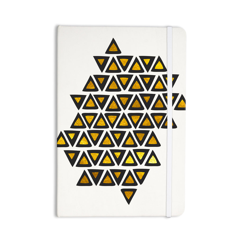 "Pom Graphic Design ""Inca Tribe"" Gold White Everything Notebook - KESS InHouse  - 1"