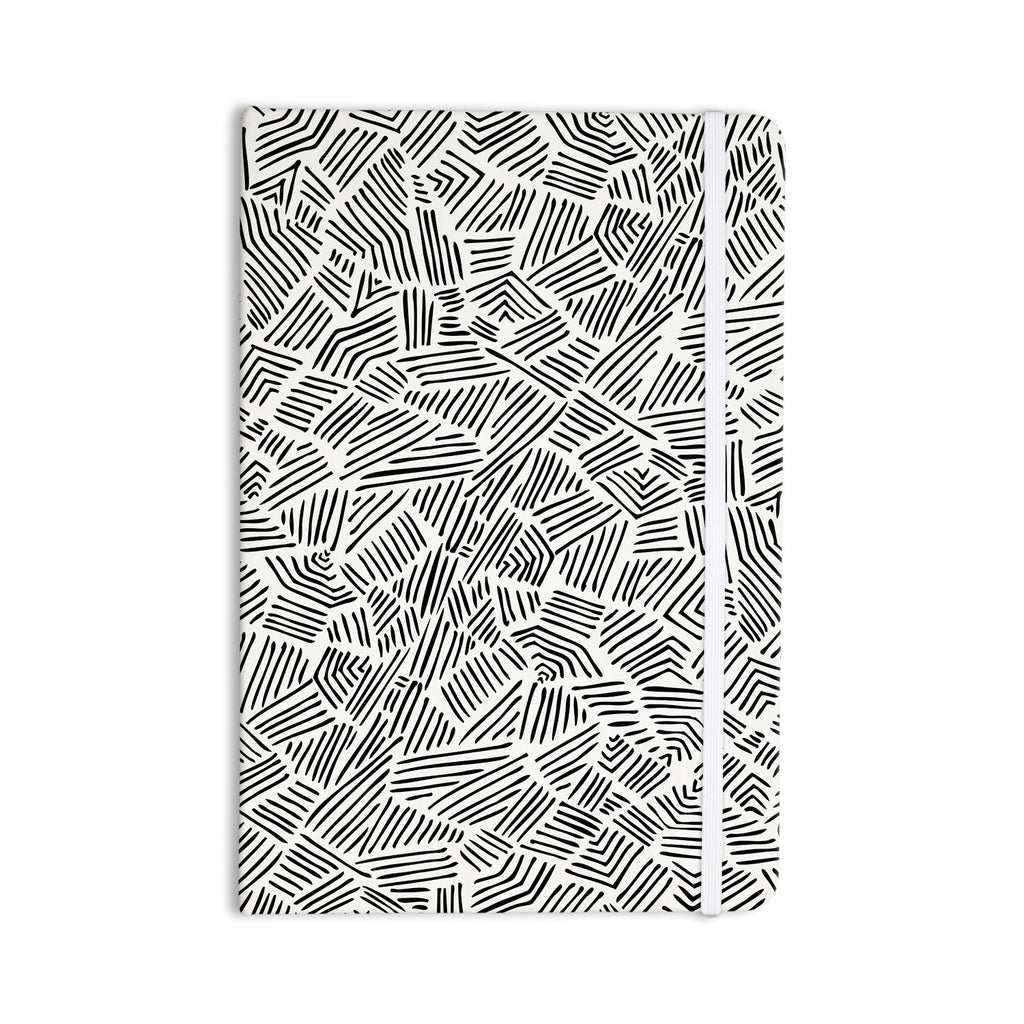 "Pom Graphic Design ""Inca Lines"" Black Illustration Everything Notebook - KESS InHouse  - 1"