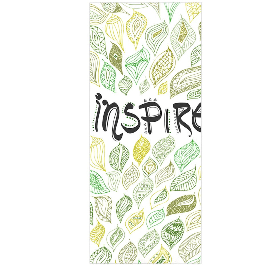 "Pom Graphic Design ""Inspire Nature"" Green Yellow Luxe Rectangle Panel - KESS InHouse  - 1"