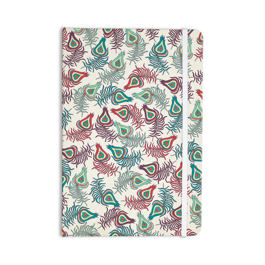 "Pom Graphic Design ""Peacock Feathers"" Multicolor Pattern Everything Notebook - KESS InHouse  - 1"