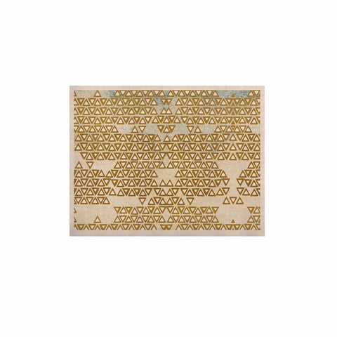 "Pom Graphic Design ""Mint & Gold Empire"" Yellow Geometric KESS Naturals Canvas (Frame not Included) - KESS InHouse  - 1"