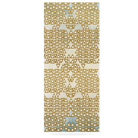 "Pom Graphic Design ""Mint & Gold Empire"" Yellow Geometric Luxe Rectangle Panel - KESS InHouse  - 1"
