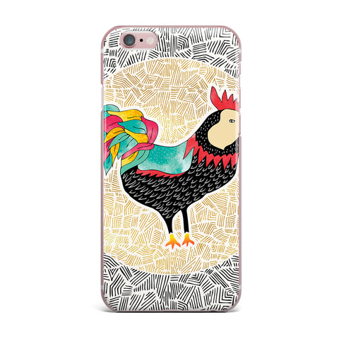"Pom Graphic Design ""Cuckaroo Rooster"" Black Gold iPhone Case - KESS InHouse"