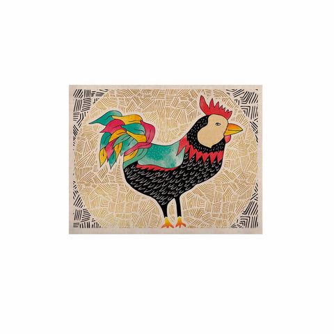 "Pom Graphic Design ""Cuckaroo Rooster"" Black Gold KESS Naturals Canvas (Frame not Included) - KESS InHouse  - 1"