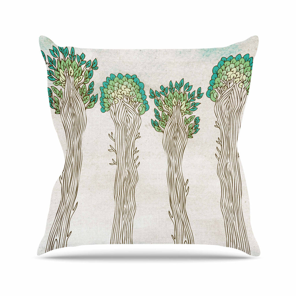 Amazon Trees Outdoor Throw Pillow By Pom Graphic Design Kess