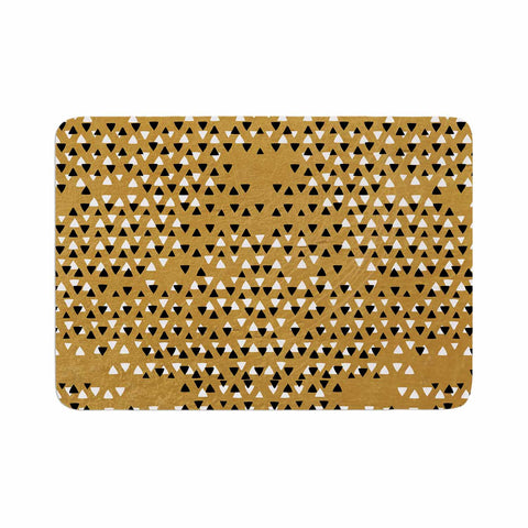 "Pom Graphic Design ""Golden Sky"" Gold Black Memory Foam Bath Mat - Outlet Item"