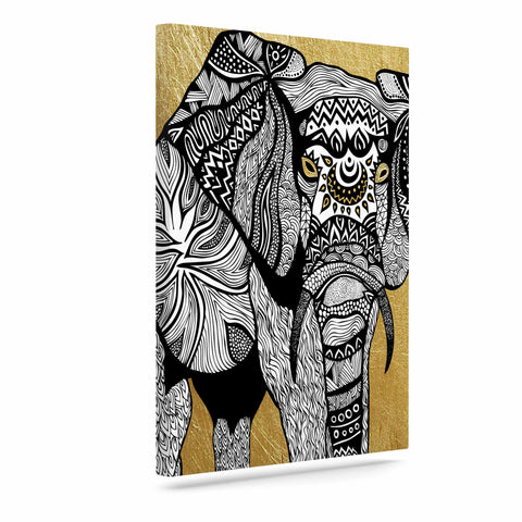 "Pom Graphic Design ""Golden Elephant"" Canvas Art - KESS InHouse  - 1"