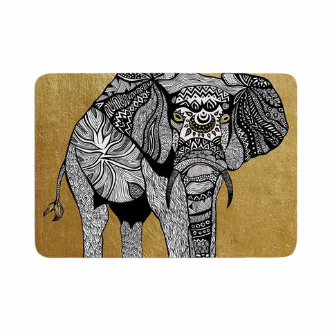 "Pom Graphic Design ""Golden Elephant"" Memory Foam Bath Mat - KESS InHouse"