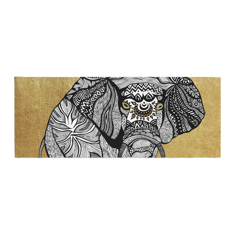 "Pom Graphic Design ""Golden Elephant"" Bed Runner - KESS InHouse"