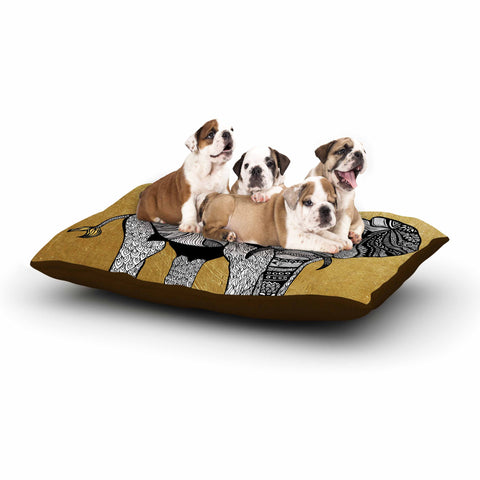 "Pom Graphic Design ""Golden Elephant"" Dog Bed - KESS InHouse  - 1"